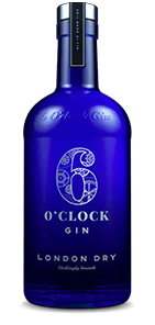 A bottle of 6o'clock Gin